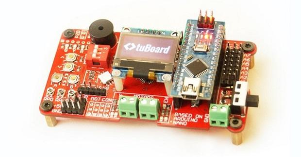 デュアルマイコンでプロジェクト開発をサポート——Arduino Nano搭載の開発ボード「tuBoard」 fabcross
