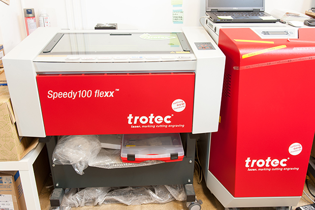 レーザーカッター:「trotec Speedy 100 Flexx」