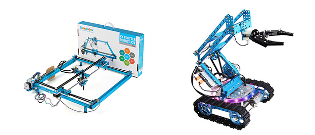 「XY Plotter Robot Kit」と「Ultimate Robot Kit-Blue」。
